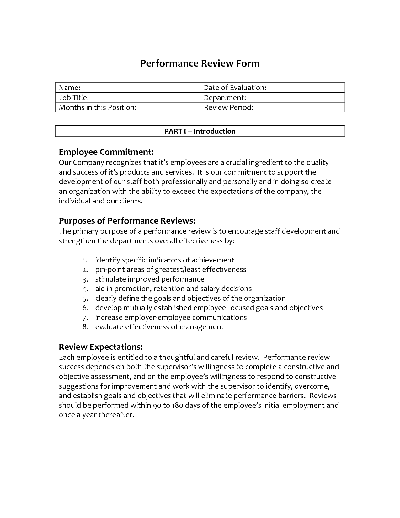 Employee Review Letter Selol Ink