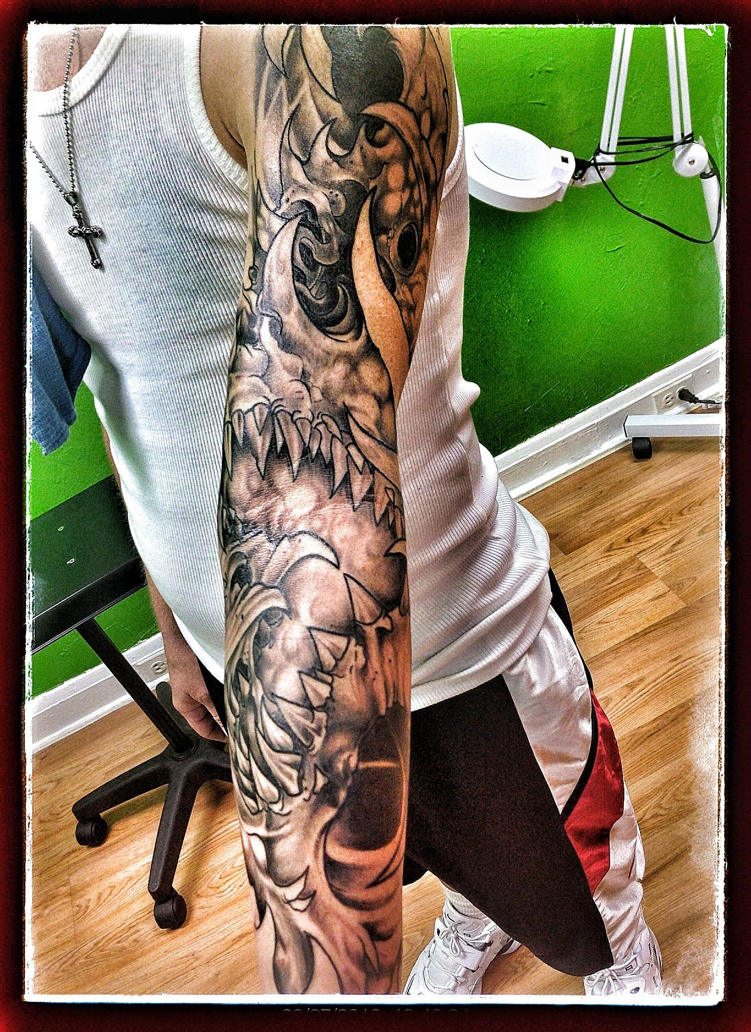 sleeve Tattoos Biomechanical tattoo