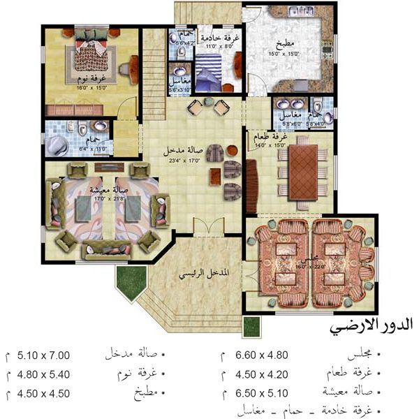 تصاميم منازل Square House Plans House Design Pictures Home Map Design