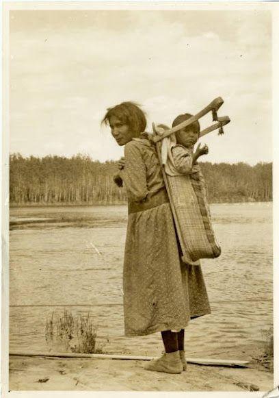 Ojibwa woman and child - 1933