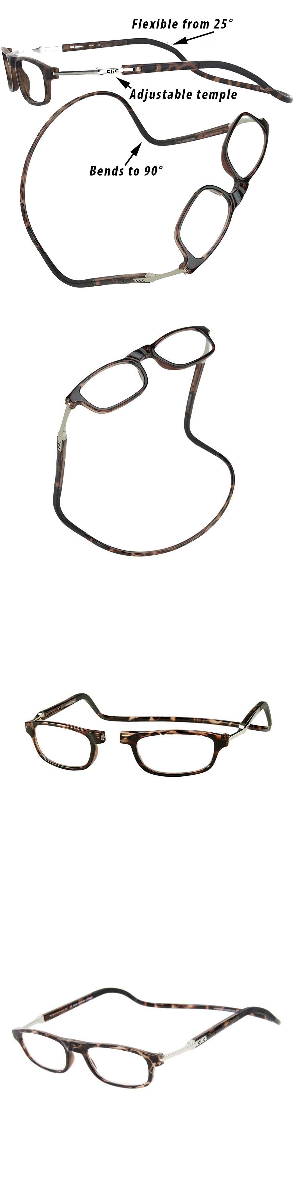33b5016dce1a Reading Glasses  Clic Readers Flex Tortoise Neck-Hanging Magnetic Reading  Glasses