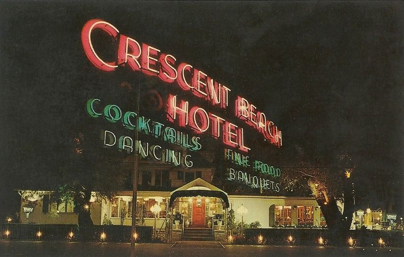 The Crescent Beach Hotel 1960s Oh How I Miss This Place Published By T R Toolan Rochester N Y Text On Back 1372 Edgemere