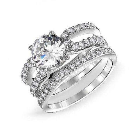 wedding rings sets for her - Silver Wedding Rings For Her