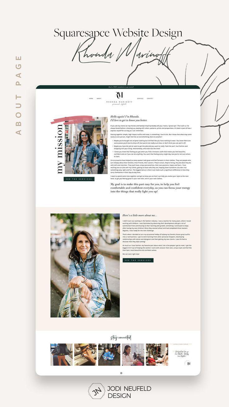 Rhonda Marinoff  Website template setup and customizations —  Squarespace Web Design Services | Jodi Neufeld Design