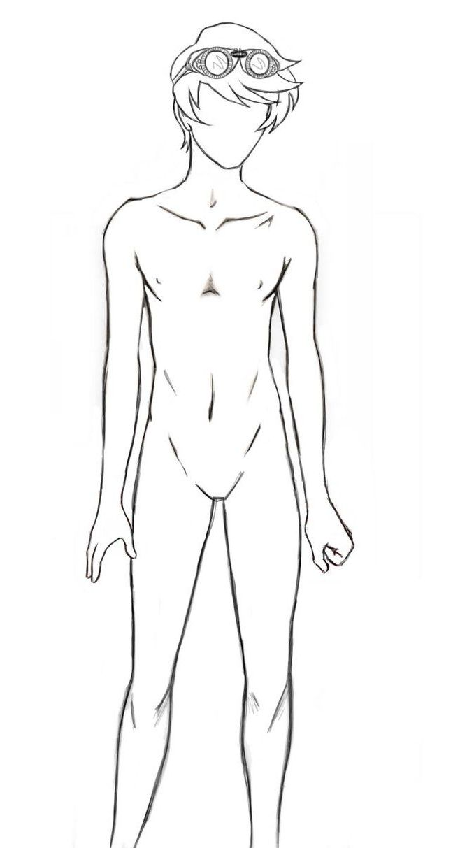 Teenage Male Body Outline Anime Drawings Boy Body Outline