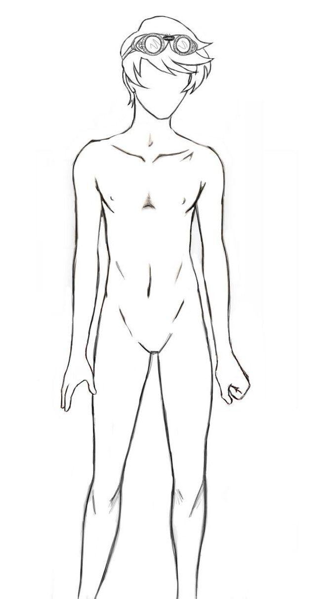Teenage Male Body Outline Desenho Masculino Anime Masculino Corpo Masculino