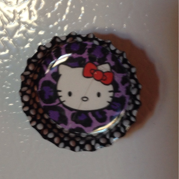 Hello Kitty Bottle Cap Magnet