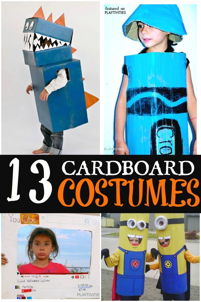 9f9e7cc18 Coolest Cardboard Halloween Costumes For Kids | Bloggers' Fun Family  Projects | Halloween costumes for kids, Diy halloween costumes, Cheap  halloween ...