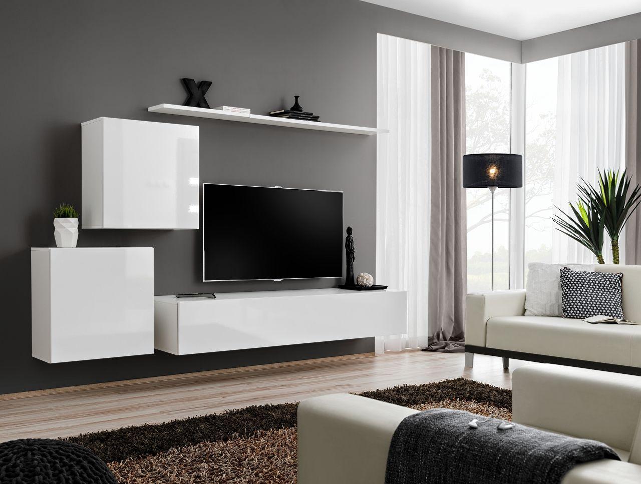Tv Kast Wit Modern.Shift 5 Tv Meubel Wit Moderne Tv Muur Woonkamer Muren En Tv