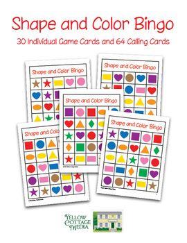 Shapes And Colors Bingo 5x5 Proyectos De Matematicas Recursos Educativos Actividades