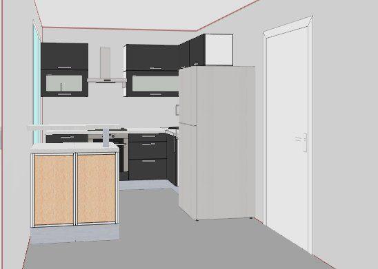 petite cuisine avec ilot central recherche google kitchen pinterest. Black Bedroom Furniture Sets. Home Design Ideas