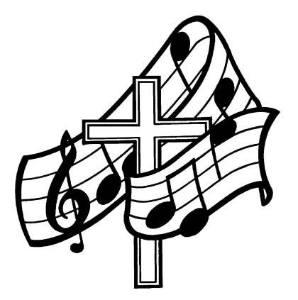 Cross With Music Notes