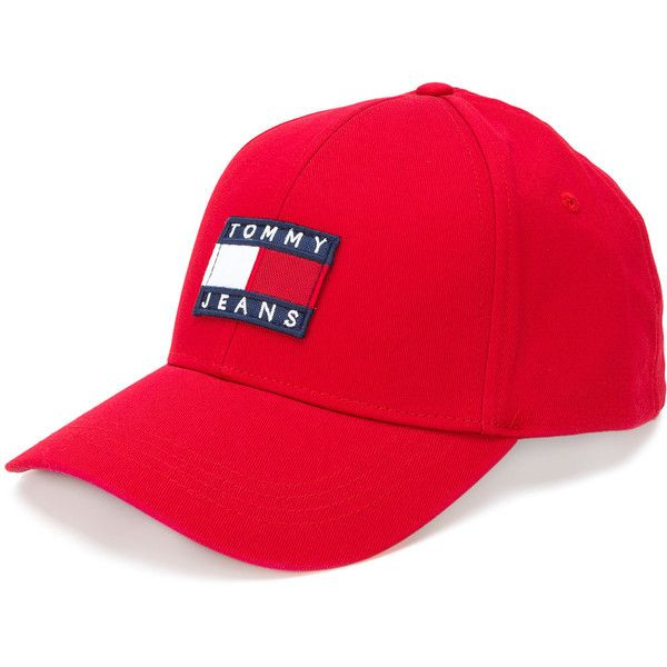Tommy Jeans logo front cap ( 62) ❤ liked on Polyvore featuring accessories fffcf171ecbe