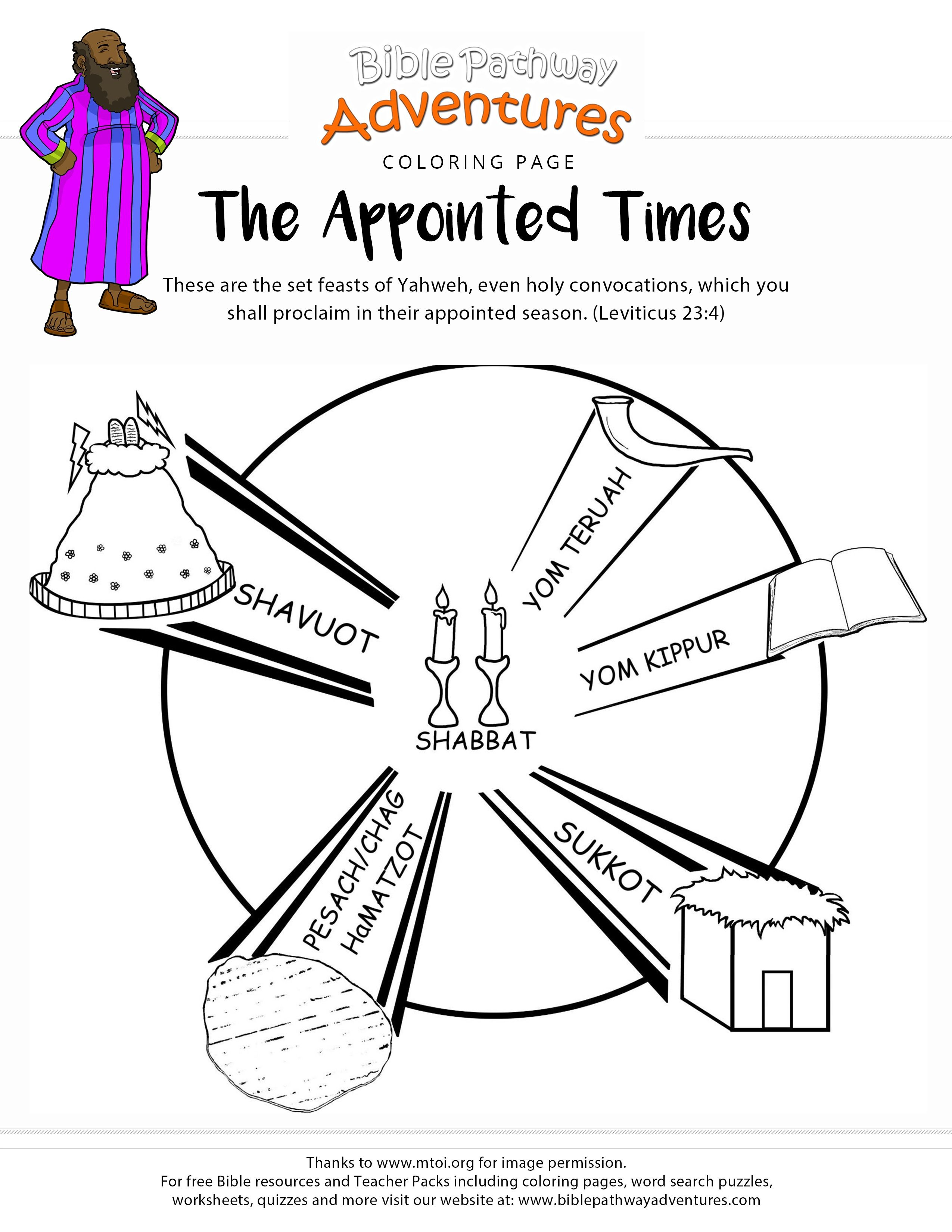 Bible Coloring Page The Appointed Time With Images