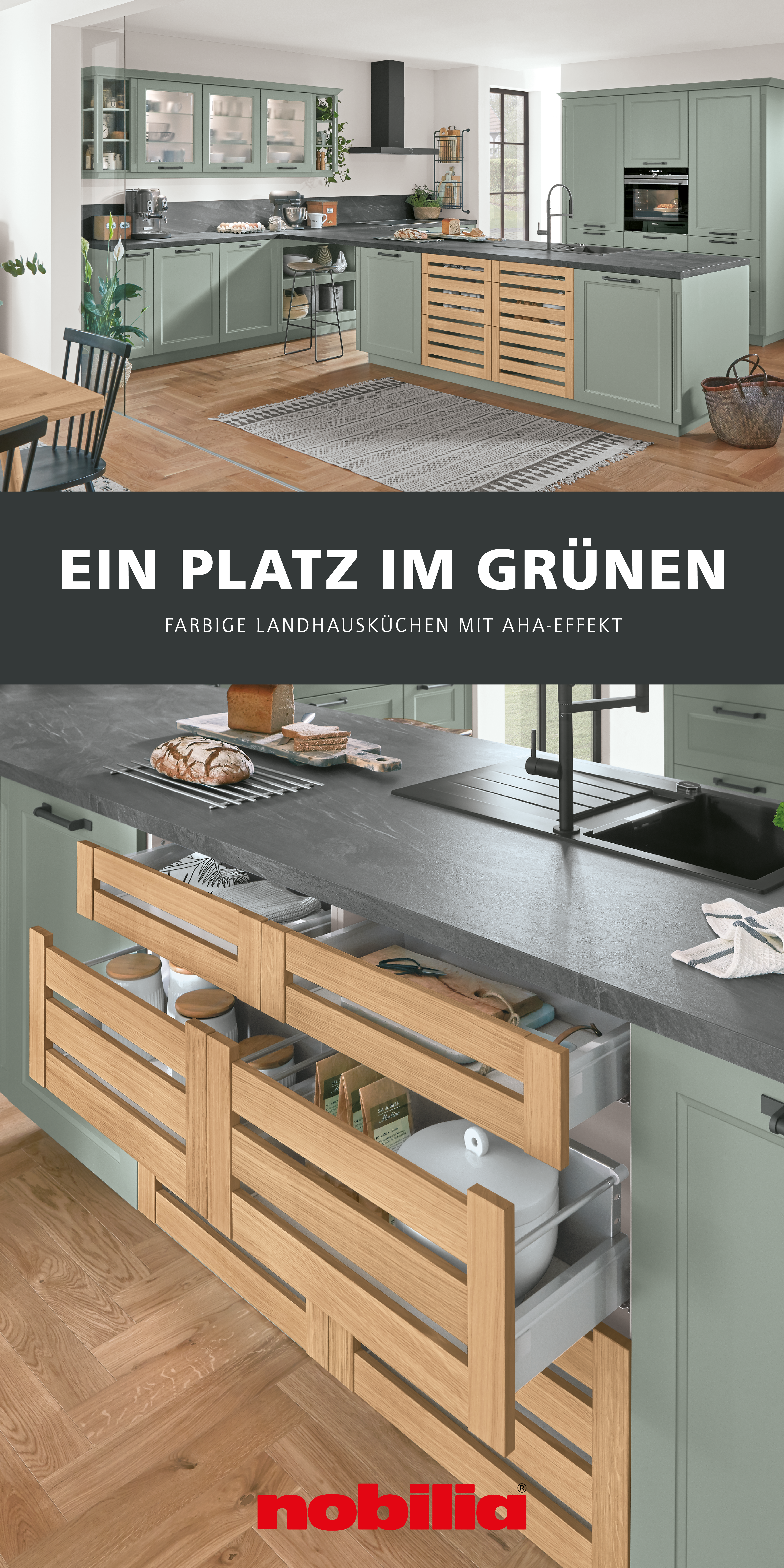 Grune Kuchen Im Landhausstil In 2020 Kuche Landhausstil Kuchen Ideen Landhaus Haus Kuchen