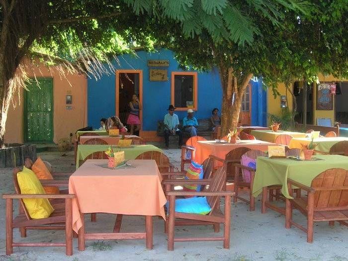 one of many quant family restaurants in Trancoso, Bahia....