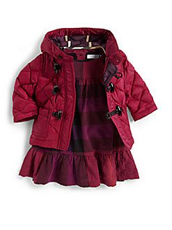 Burberry - Infant's Quilted Toggle Coat