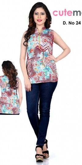 10b7bd3c0ef59 Cutemad Designer Printed Western Top. Find this Pin and more on ladies tops  ...
