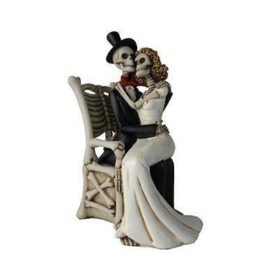 Liebe Heirat Geschenk Braut Bräutigam Skelett Brautpaar Figur Endless Love