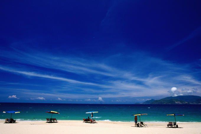Nha Trang beach in Khanh Hoa Province, Vietnam