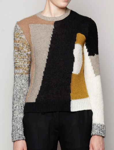 Carven F/W '12 - patchwork