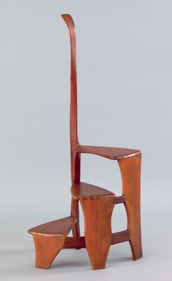 Wharton Esherick Cherry Modernist Library Steps 53 1 4 H Price Realized 32 760 Pook Pook Inc Wharton Esherick Modern Design Modernist