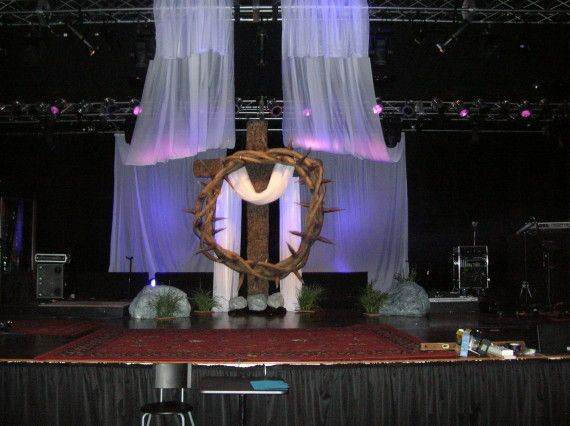 Church Stage Design For Christmas