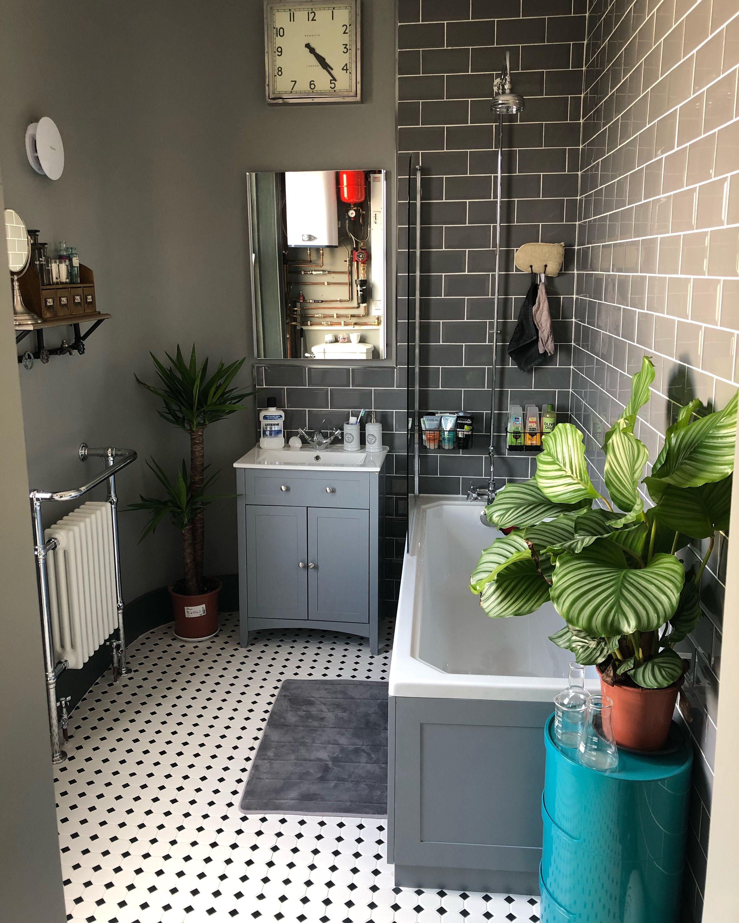Victoria Plum Bathroom Wall Tiles Topps Tiles Floor Tiles Walls In Farrow Ball S Manor House Grey Newgate Bathroom Wall Tile Bathroom Style Shower Room
