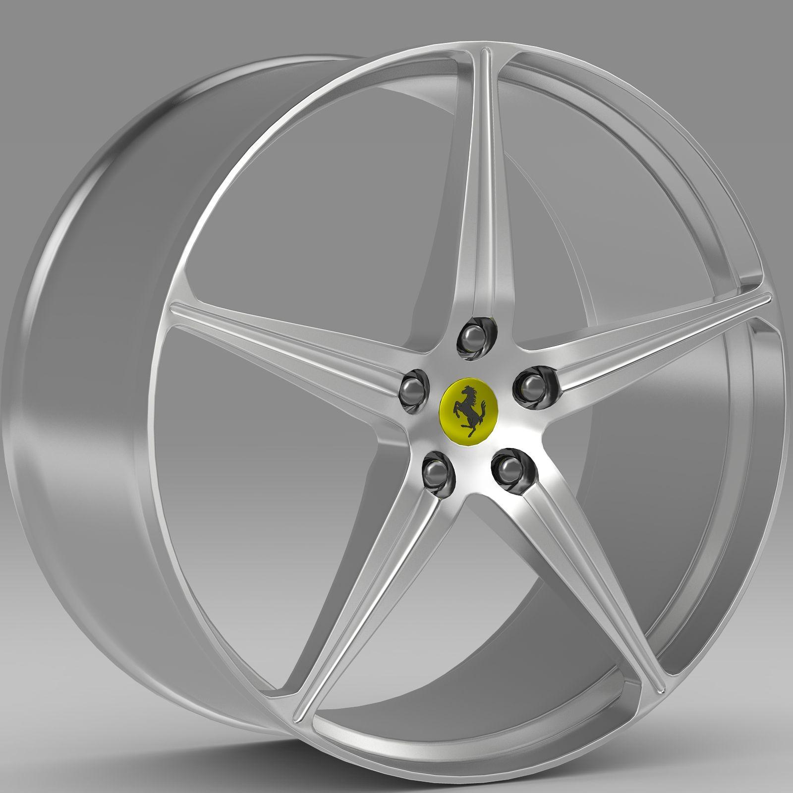 Ferrari 458 Spider Rim 3D Model (With Images)