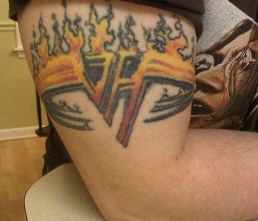 """My bad ass VAN HALEN tattoo, this thing is 11 years old!!! Love Van Halen!""---- Sean"