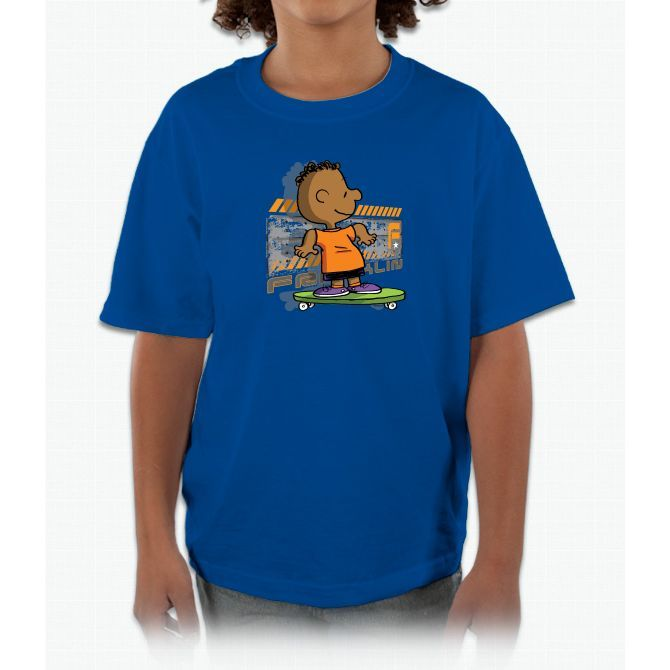Franklin Skates Snoopy Kids and Youth T-Shirt