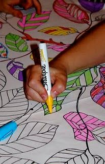 ikea fabric to color for table covering as party activity