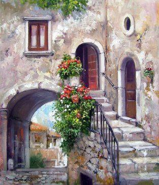 Sclt pinterest pinturas cuadro y acuarela - Casas viejas al oleo ...