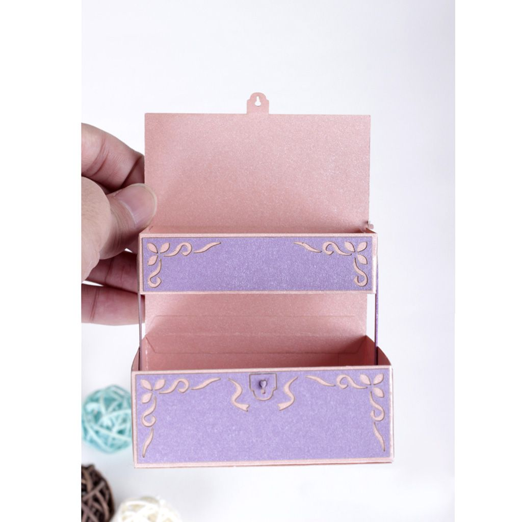 Light purple iridescent paper diy handcraft accessory boxassembly light purple iridescent paper diy handcraft accessory boxassemblypaper sculpture model 3d greeting kristyandbryce Choice Image