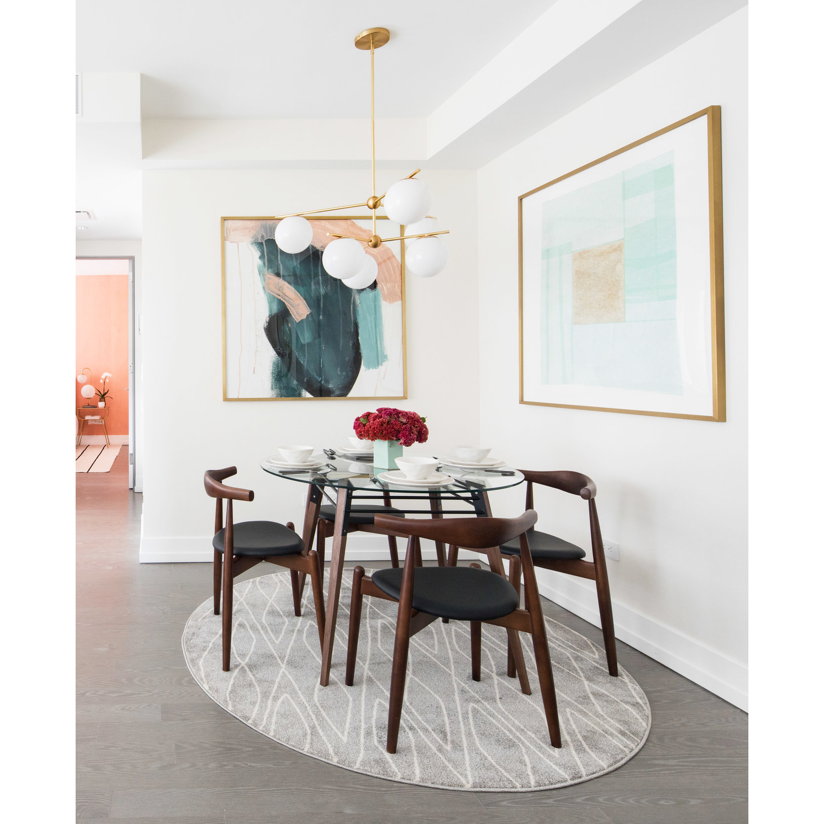 Beautiful NY apartment using our Ross Dining Table in Walnut and Black by @workof     #RossDiningTable #diningtable #residentialdecor #interiorstyles #decorcrushing #homedecor #homedesign #homesweethome #interiordecor #homeinspo #interiorstyling #instahome #homeinteriors #simplystyleyourspace #midcenturystyle  #furnituredesign #decor #elledecor #midcenturymodern #modernliving #midcenturyhome #furnituredesign #residentialdesign
