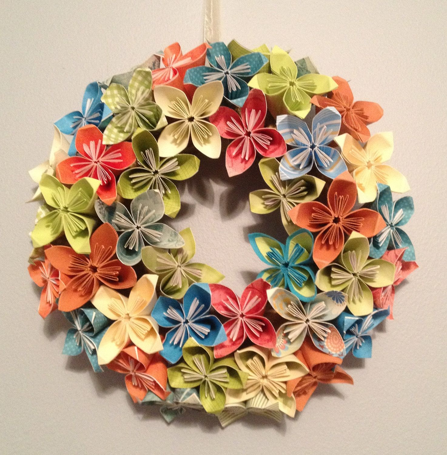How to make beautiful origami kusudama flowers origami pinterest love this wreath mightylinksfo