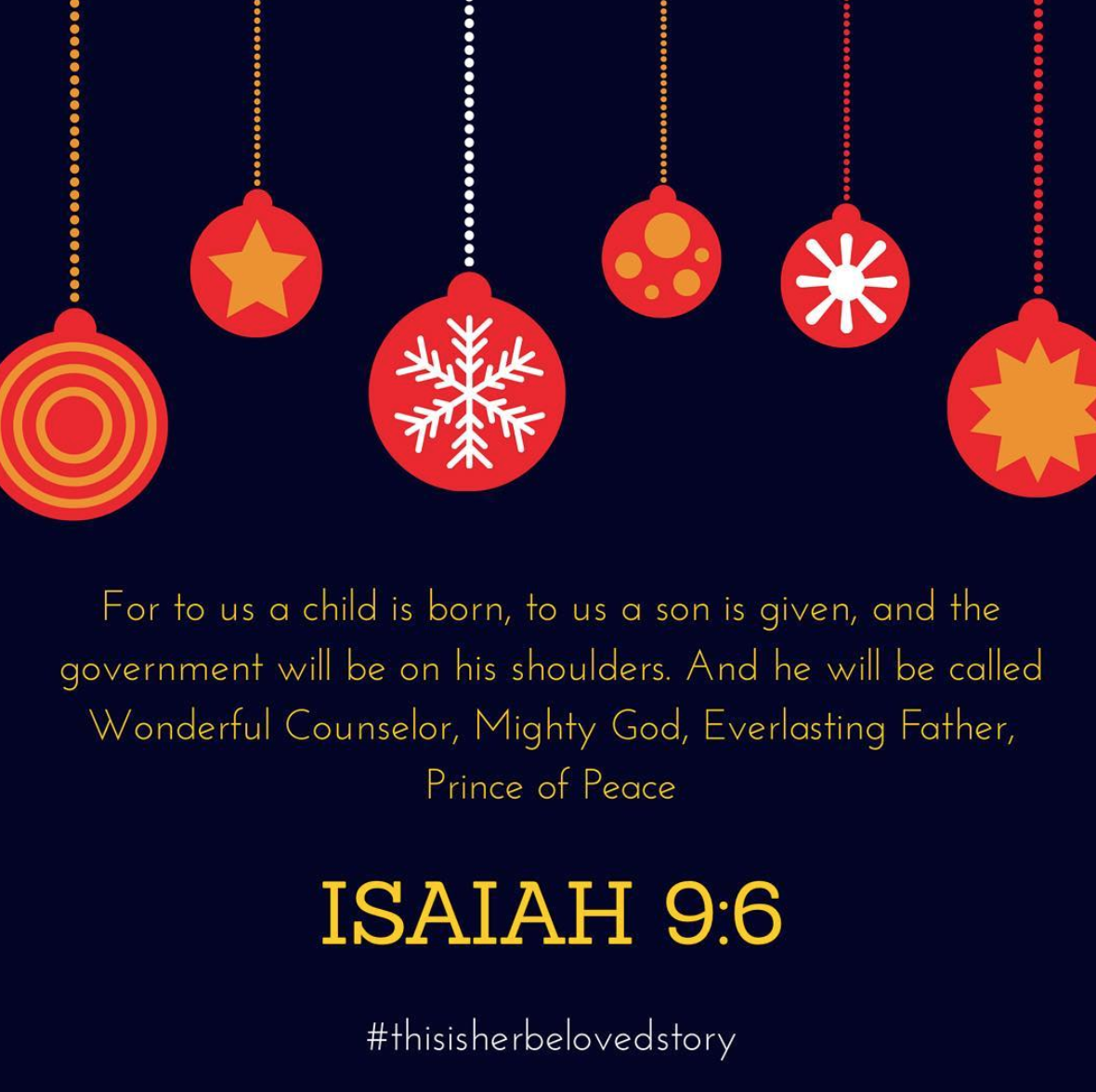 Isaiah 9:6 Merry Christmas