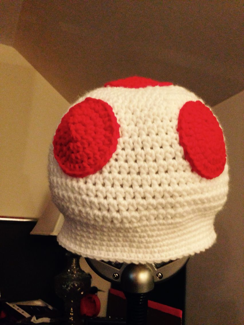 Mario Toad hat | Things I\'ve crocheted | Pinterest