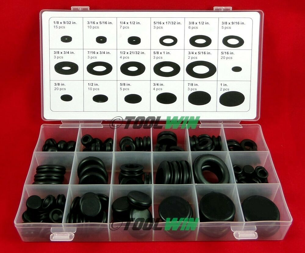 Sponsored Ebay 125pc Rubber Grommet Firewall Wire Gasket Solid Hole Plug Assortment Set Rubber Grommets Plugs Grommets