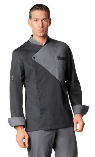 Modelo de dolm masculina spa uniform chef dress for Spa uniform blue