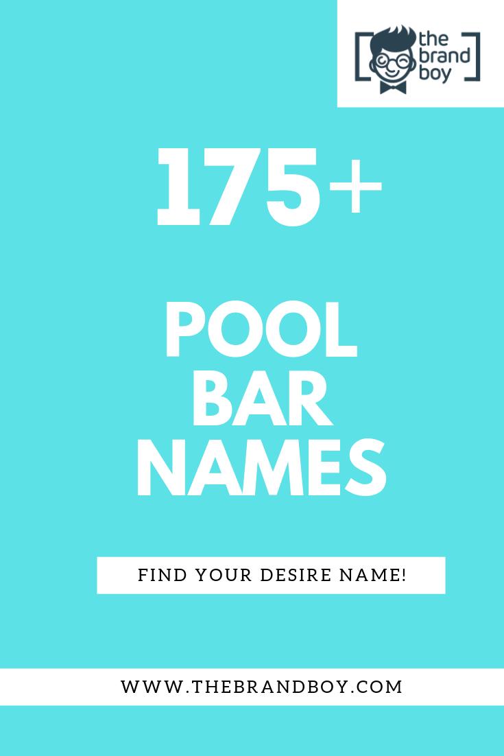 22+ Best Pool Bar Business Names - theBrandBoy.Com  Pool bar