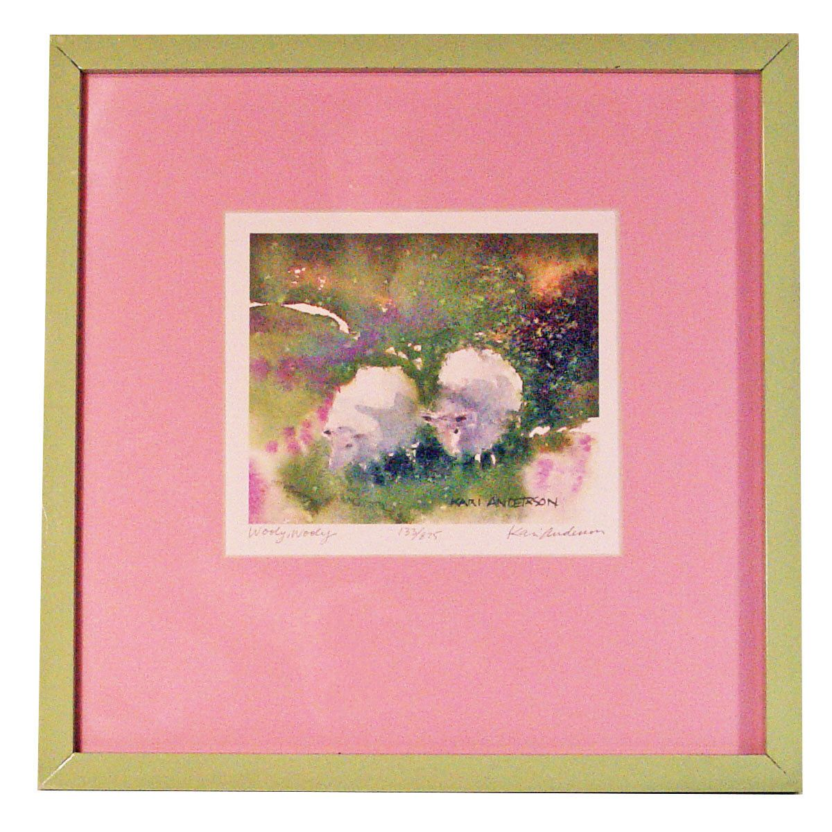 Kari Anderson signed & numbered Watercolor Framed Print \