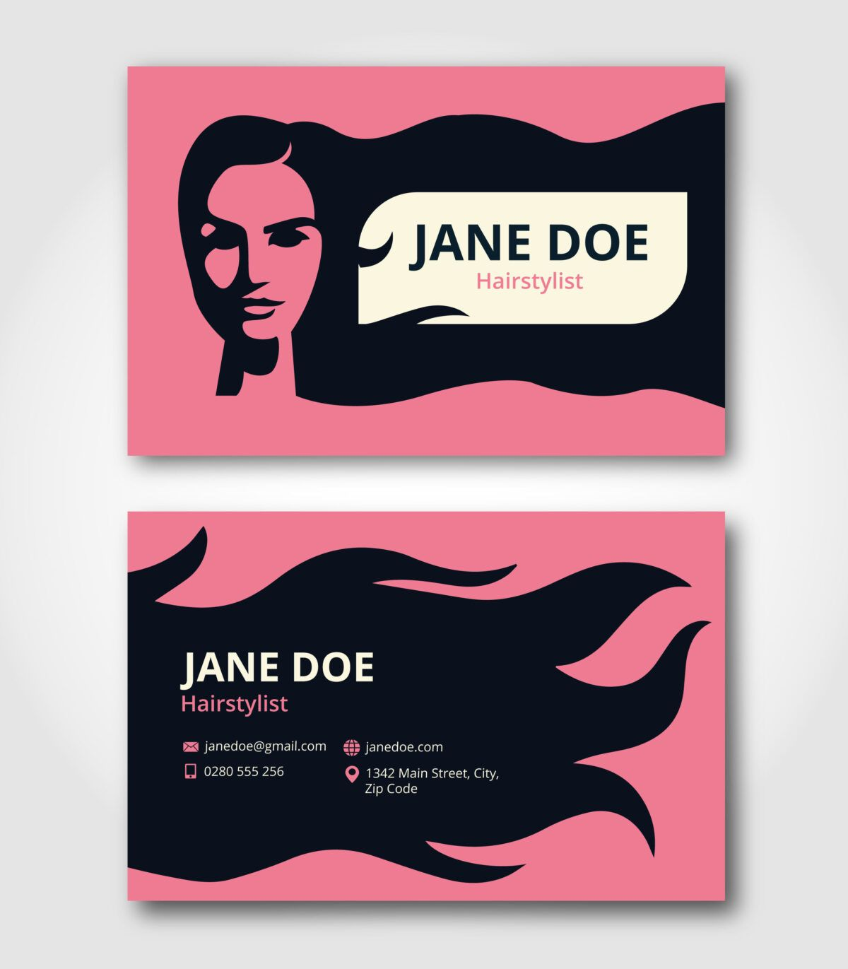 Hairstylist Business Card Template Download Free Vectors With Hair Salon Business Hairstylist Business Cards Salon Business Cards Hairdresser Business Cards