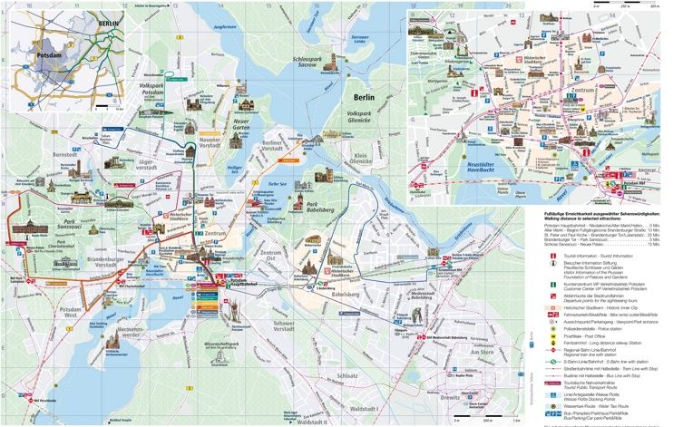 potsdam sightseeing map