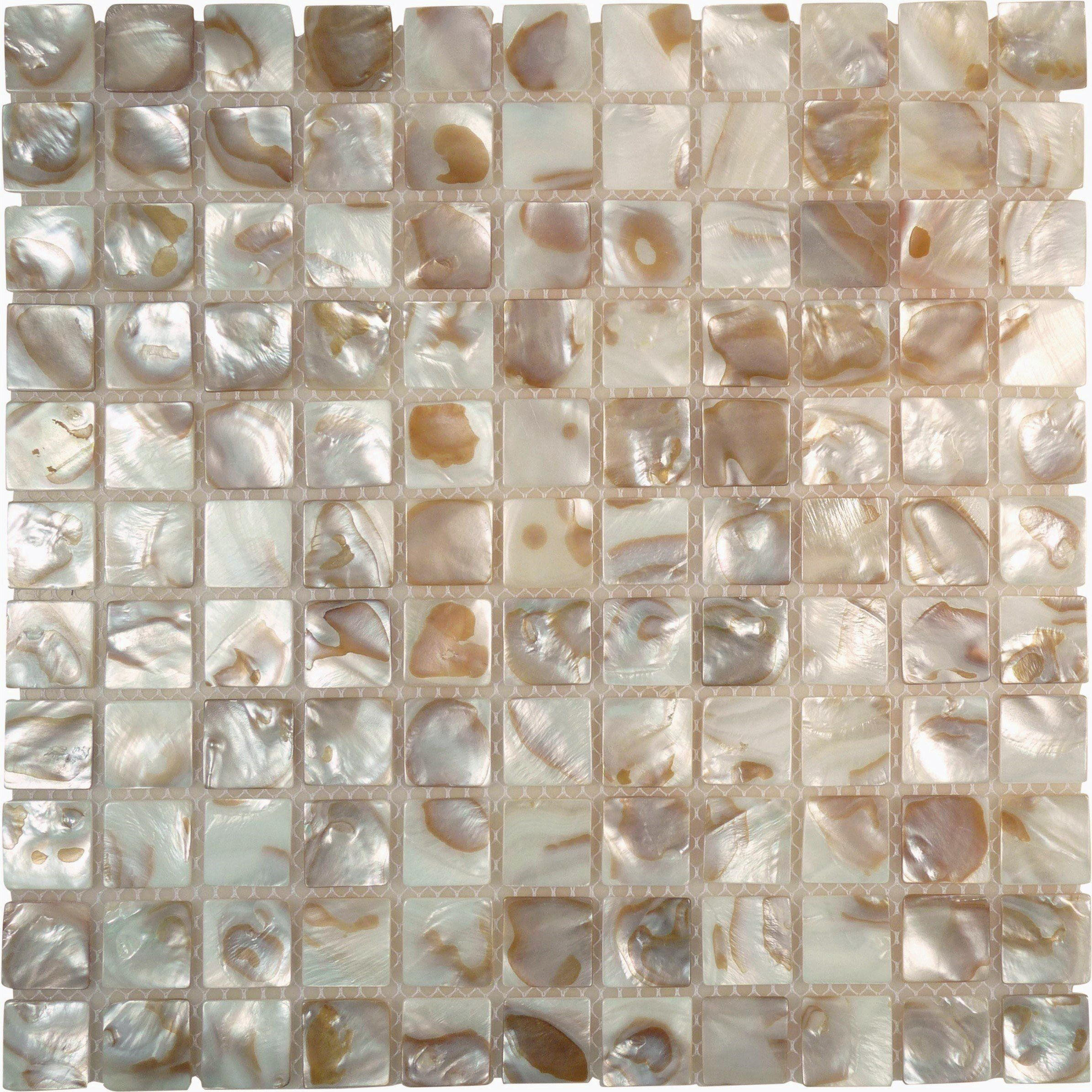 This Tile Has A Few Color Variations Sheet Size 11 3 4 X 11 3 4 Tile Size 1 X 1 Tiles Per Sheet 121 Tile Thick Pearl Tile Shell Mosaic Tile Shell Mosaic