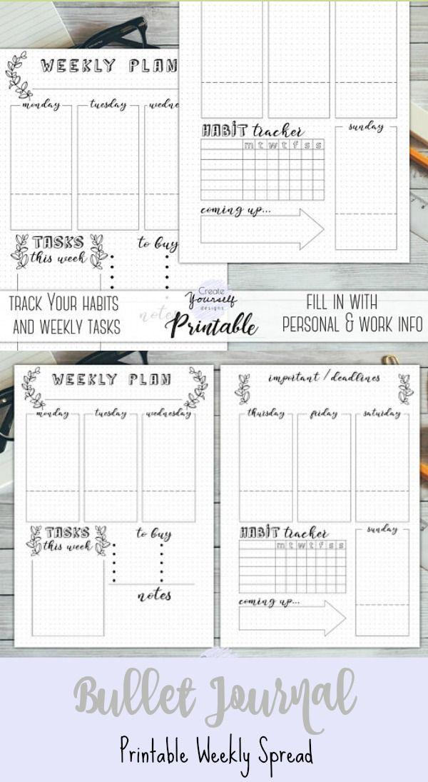 Cute bujo weekly layout. Creative Organization: Bullet Journal ...