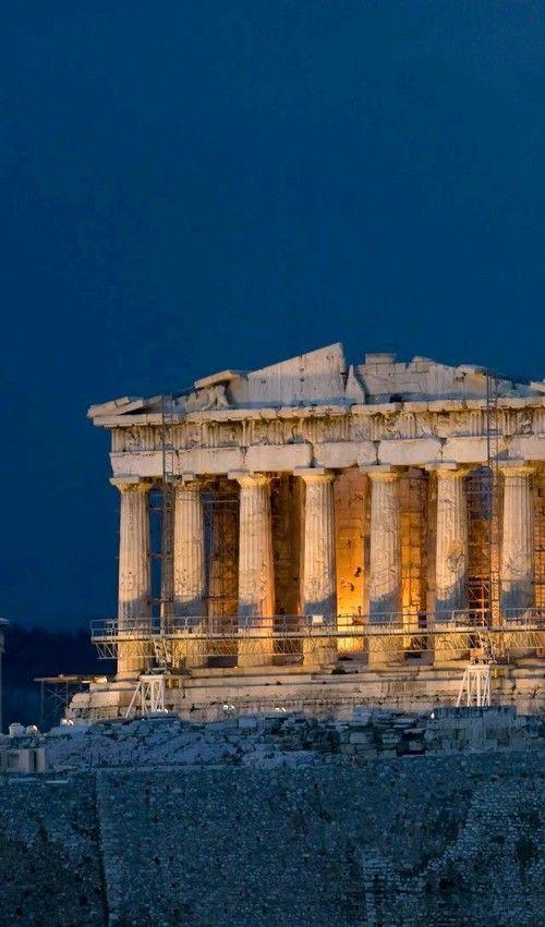 Night Athens And Parthenon Athens Greece Greece Greece Wallpaper