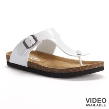 5cf9bd54ffe Mudd® T-Strap Thong Footbed Sandals - Women