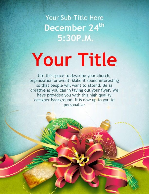 Recipe #Flyer #Design Flyer Designs Pinterest - christmas flyer template