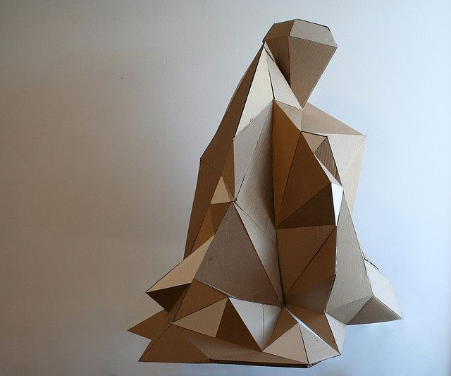 space research cardboard sculpture by Marleigh Culver, via Flickr